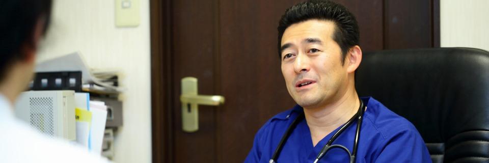 診療の基本方針は、ホームドクターとしての内科一般診療と、糖尿病専門としての診療の両立です